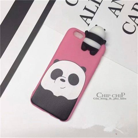 Case gấu Panda 6/7/6plus/7plus