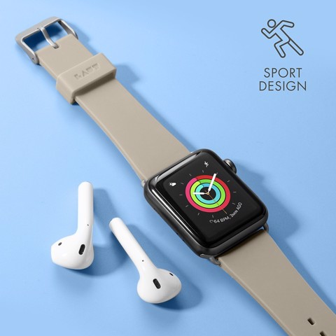 Dây đeo Apple Watch LAUT Active Taupe (38mm/40mm)