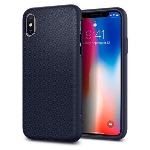 Ốp lưng Iphone X SPIGEN Liquid Air Matte Xanh