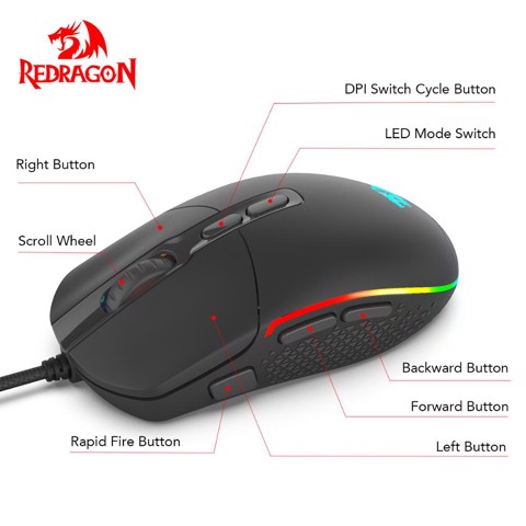 Chuột Gaming Redragon Invader M719