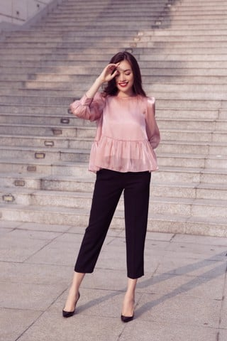 Quần Basic Straight Pants