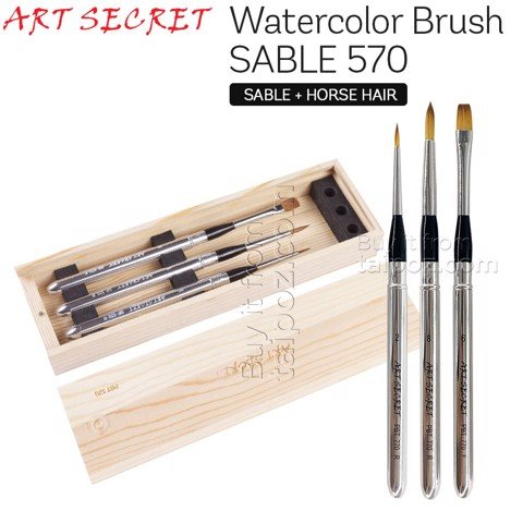 Bộ cọ travel Art Secret hộp gỗ SP-570