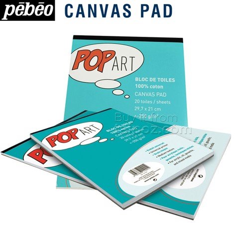 Canvas dạng tập Pebeo Pop Art Canvas Pad