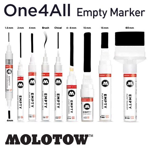 Bút marker Molotow One4All Acrylic Paint, loại không mực