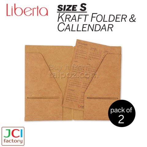 Folder & Calendar giấy kraft Bettino Vittoria cỡ nhỏ