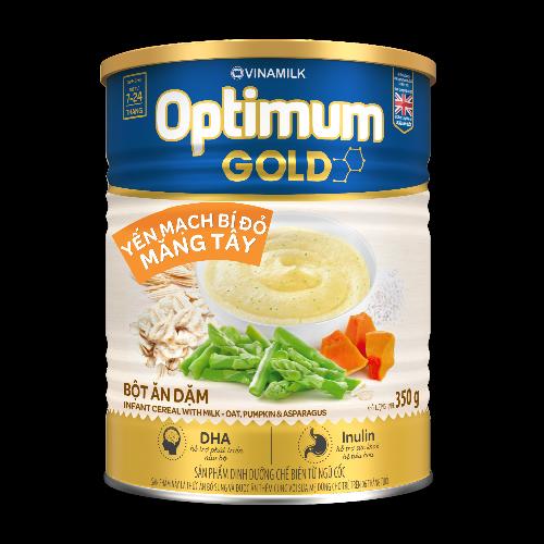 Bột Ăn Dặm Optimum Gold Yến Mạch Bí Đỏ Măng Tây - Hộp Thiếc 350g