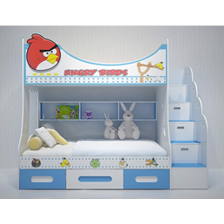 GIƯỜNG TẦNG TRẺ EM ANGRY BIRD (1m2)