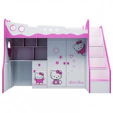 GIƯỜNG TẦNG TRẺ EM 3 TRONG 1 HELLO KITTY (1m2)