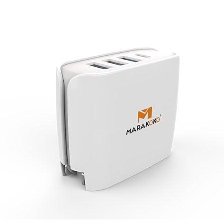 Sạc điện thoại Marakoko MA11, 4 cổng 30W, 1x Quick Charge 3.0, 2x Smart Charge và 1x Type -C