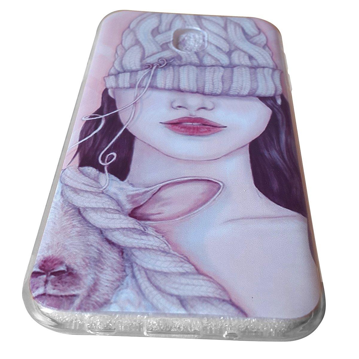 Ốp lưng Samsung Galaxy J7 Pro Tuxedo hình cô gái bí ẩn (chất liệu nhựa dẻo đàn hồi, chống bụi, chống xước)