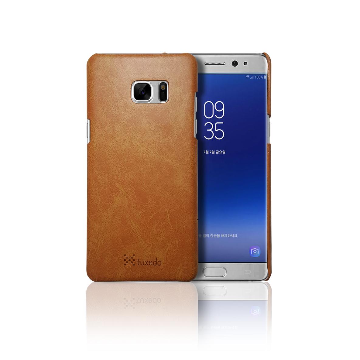Ốp lưng da Samsung Galaxy Note FE Tuxedo, da PU cao cấp, cứng cáp, chống va đập, biến dạng