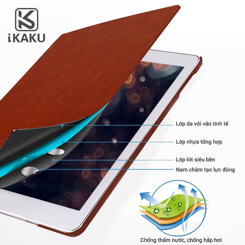 Bao da iPad 5 ( iPad Air ) Kaku ( da PU cao cấp, sang trọng, chống va đập )