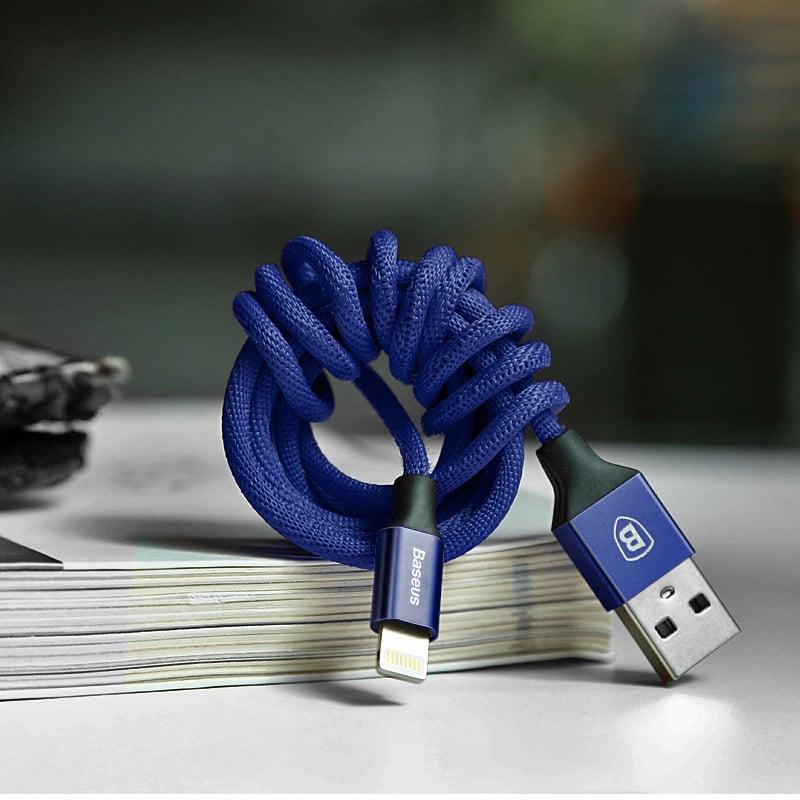 Cáp sạc điện thoại Baseus Yiven Lightning USB, bọc dù, dài 1.8m
