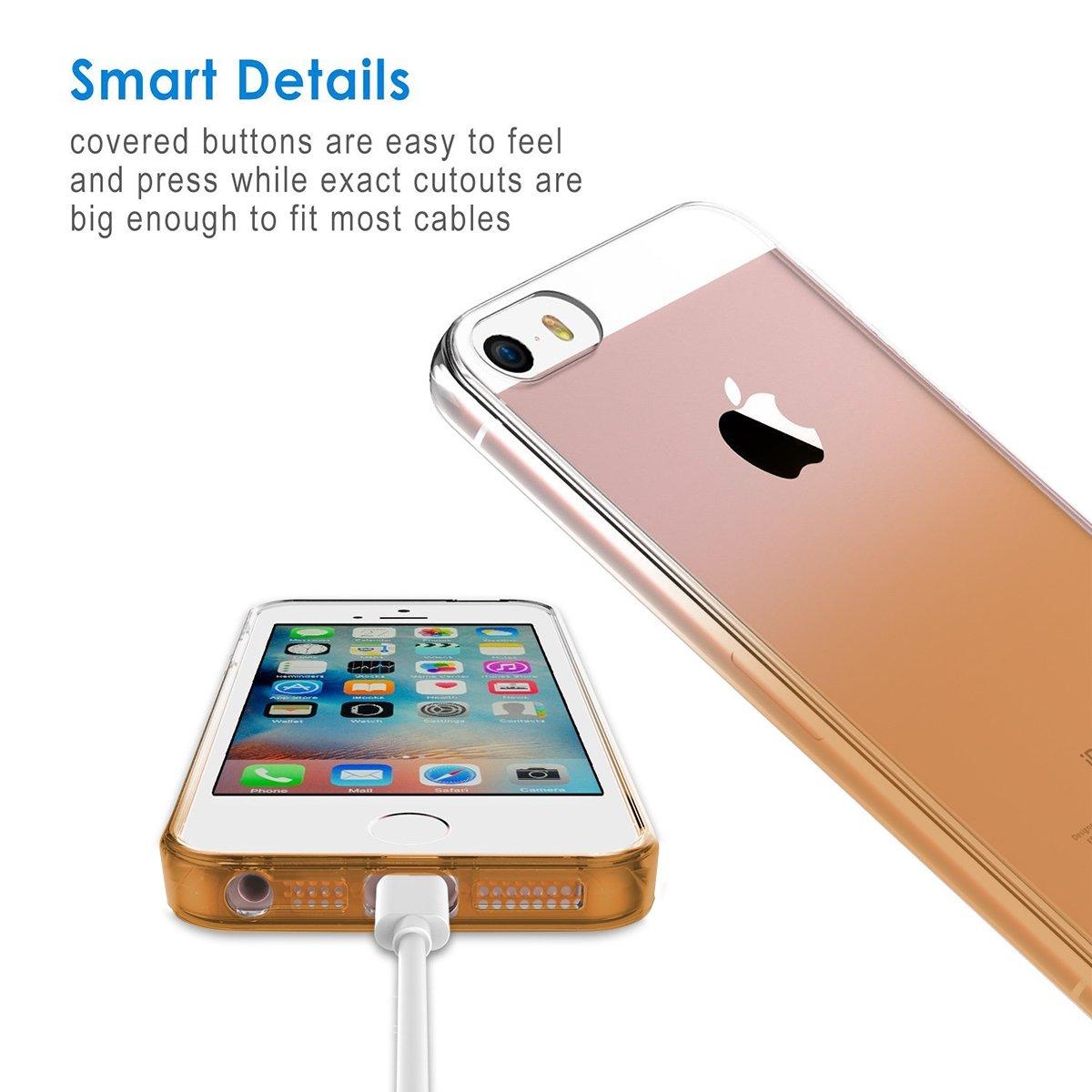 Ốp lưng iPhone SE / iPhone 5/5s, Tuxedo Cocktail (TPU cao cấp, trong suốt, mềm mại, chống va đập)