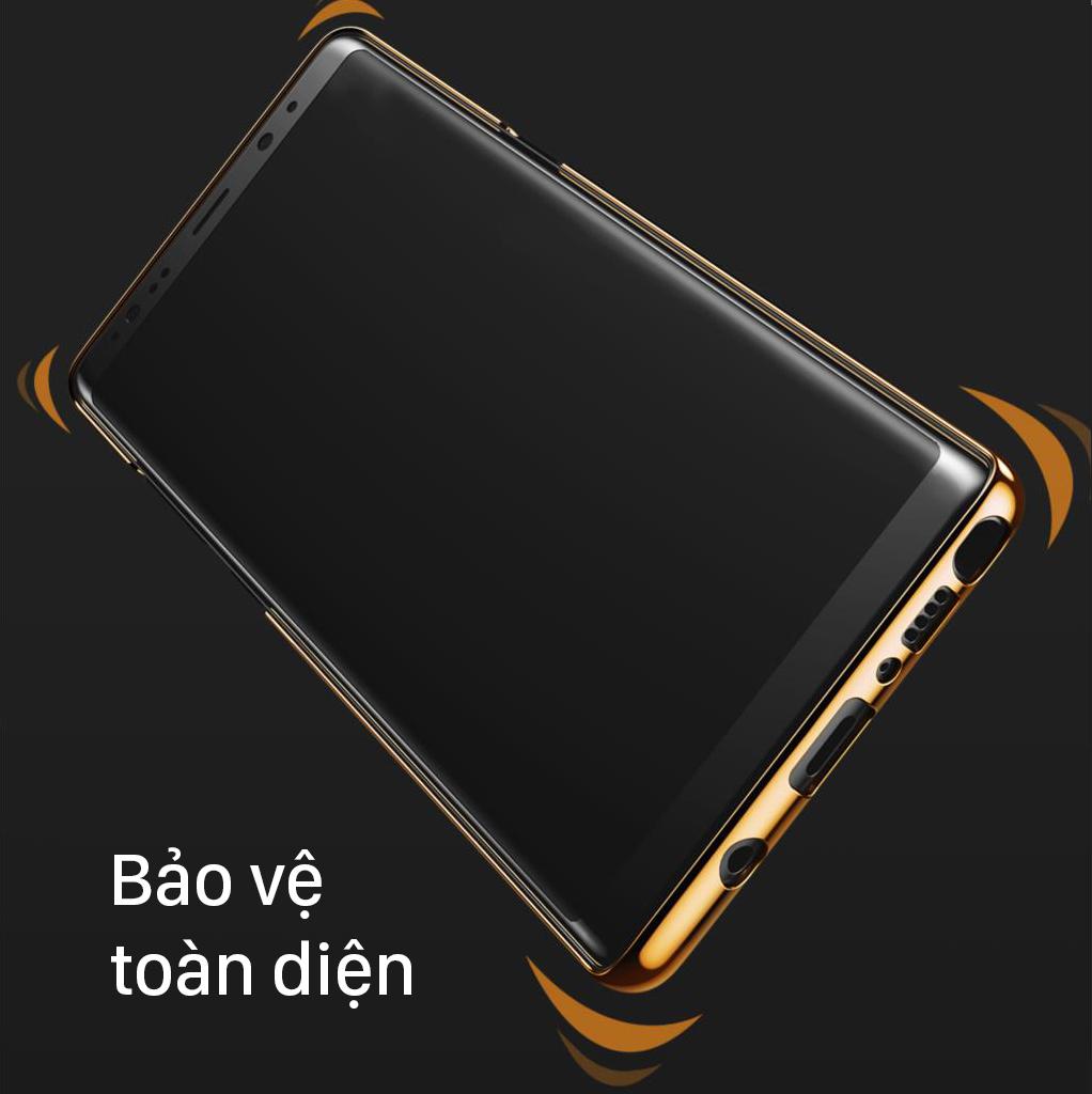 Ốp lưng Galaxy Note 8 Baseus Glitter mạ viền Crom sang trọng