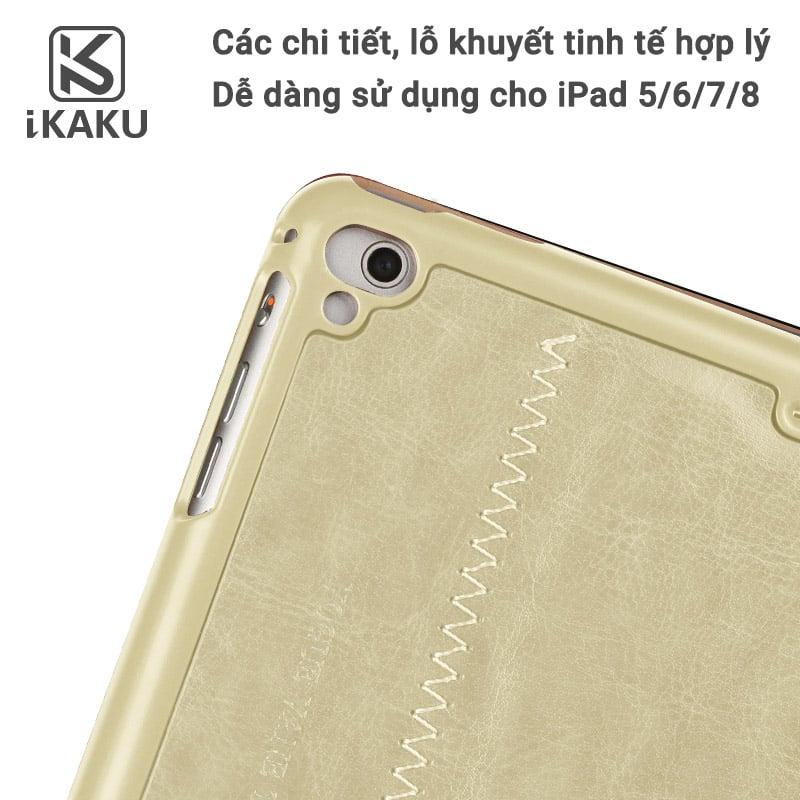 Bao da iPad 7 Kaku ( da PU cao cấp, sang trọng, chống va đập )