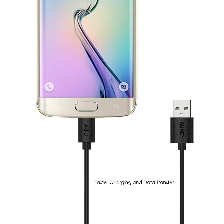 Cáp sạc điện thoại Aukey CB-D5, Micro USB, dài 0.3 - 2m, (bộ 5 cáp)