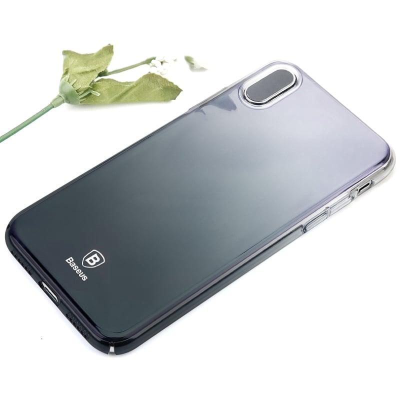 Ốp lưng iPhone X Baseus Glaze, trong suốt, nhựa cứng, siêu mỏng