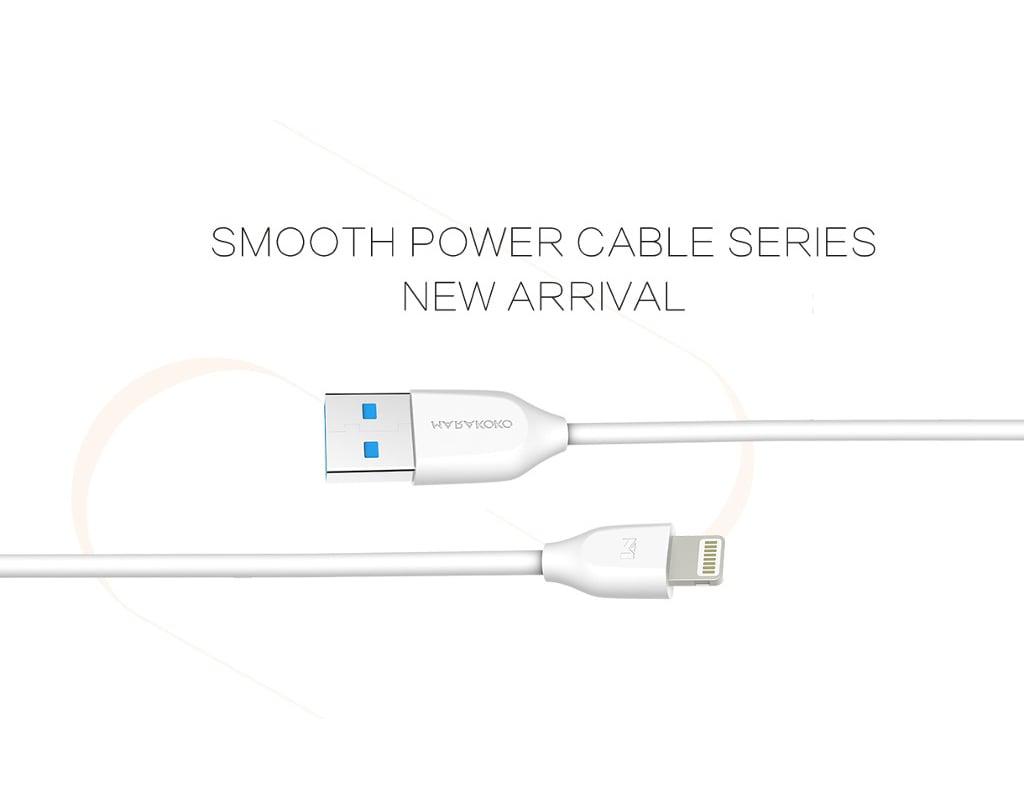 Cáp sạc điện thoại Marakoko MCB2 Lightning USB, dài 2m