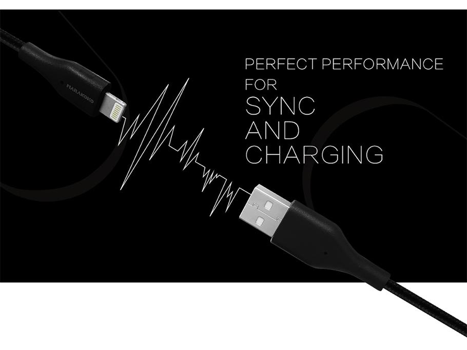 Cáp sạc điện thoại Marakoko MCB12 Lightning USB, bọc dù, dài 1.5m