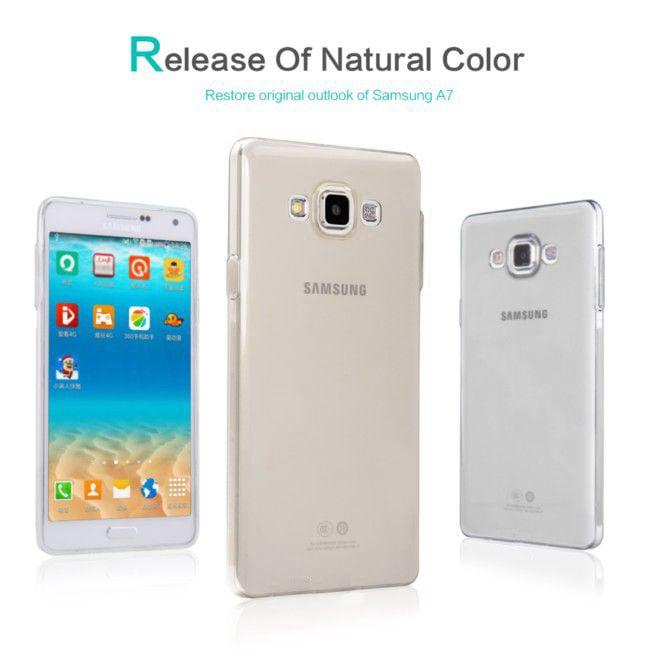 Ốp lưng Samsung Galaxy A7 Tuxedo trong suốt (nhựa dẻo, chống xước, chống va đập)
