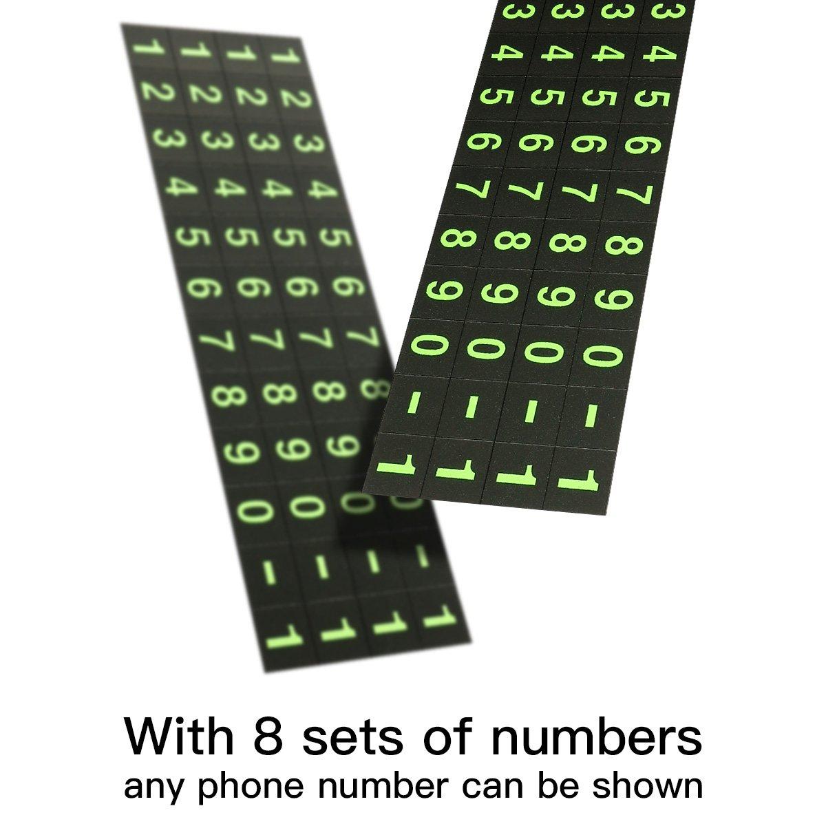 Bảng số điện thoại đậu xe thông minh trên ô tô chính hãng Baseus