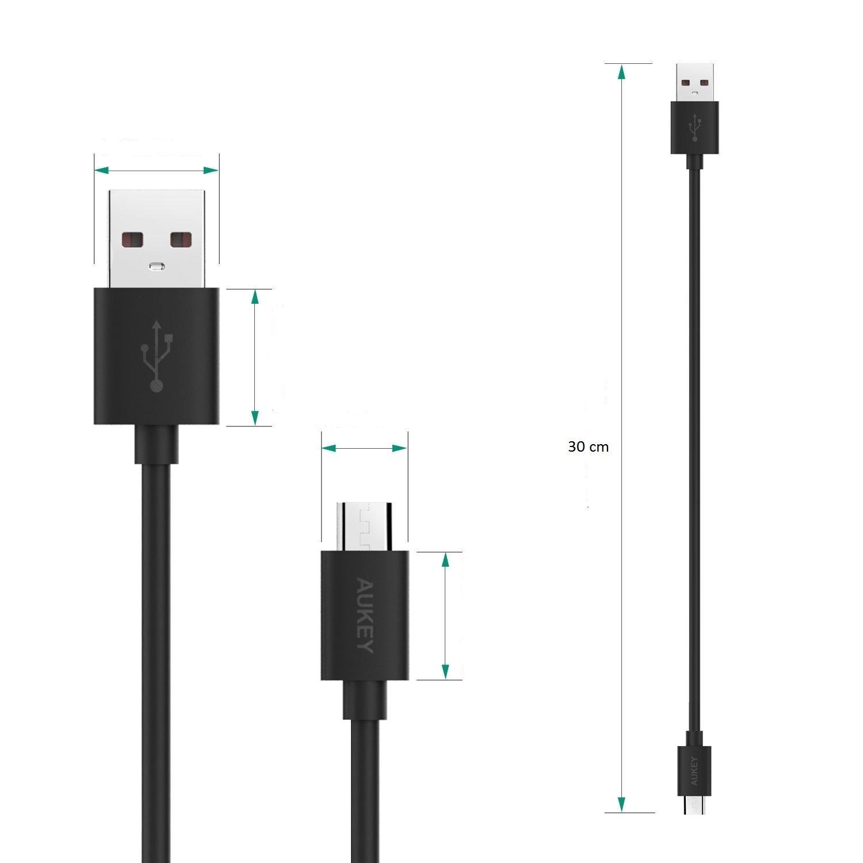 Cáp sạc điện thoại Aukey Micro USB dài 30 cm