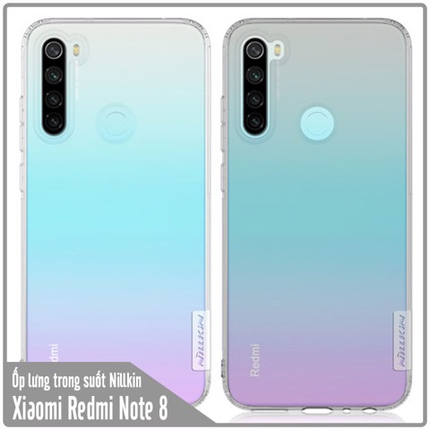 Ốp lưng Xiaomi Redmi Note 8 TPU trong suốt Nillkin NATURE