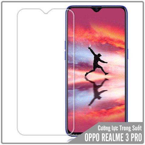 Kính cường lực Oppo Realme 3 Pro - Trong Suốt