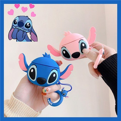 Case silicon cho tai nghe Airpods mẫu Stitch
