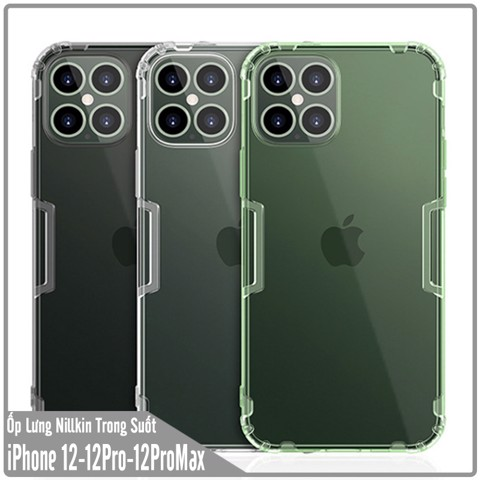 Ốp lưng cho iPhone 12 - iPhone 12 Pro - iPhone 12 Pro Max TPU trong suốt Nillkin NATURE