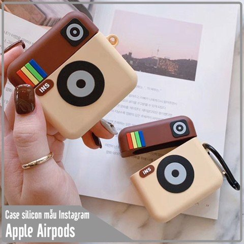 Case silicon cho tai nghe Airpods mẫu Instagram