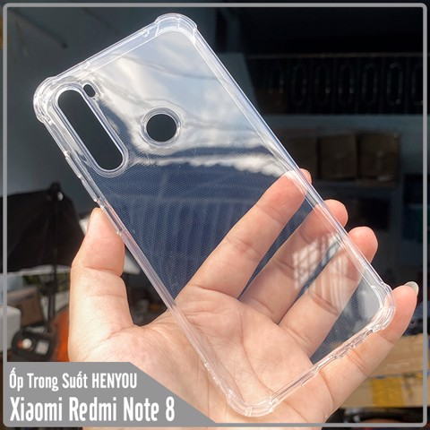 Ốp lưng Xiaomi Redmi Note 8 HENYOU Trong Suốt Chống Sốc