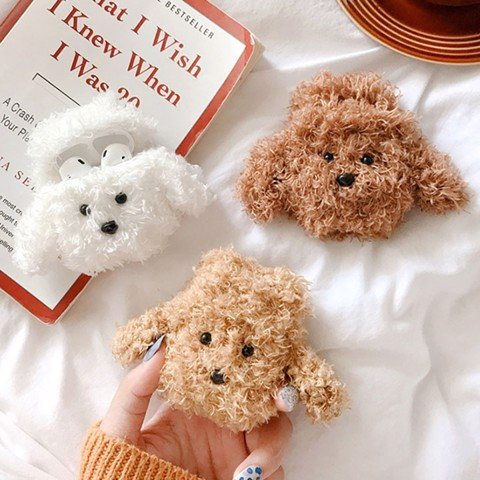 Case silicon cho tai nghe Airpods mẫu Cún Poodle