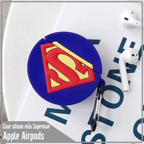 Case silicon cho tai nghe Airpods mẫu SUPERMAN
