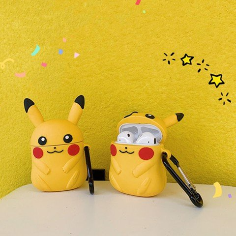 Case silicon cho tai nghe Airpods mẫu Full Pikachu
