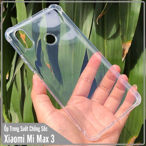 Ốp lưng Xiaomi Mi Max 3 HENYOU Trong Suốt Chống Sốc