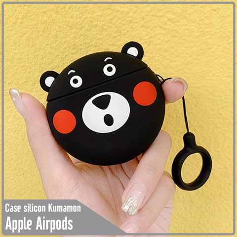 Case silicon cho tai nghe Airpods mẫu Kumamon