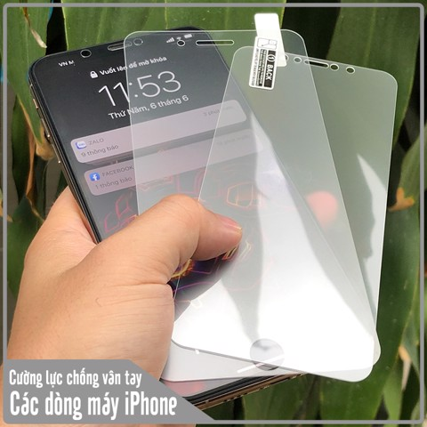 Kính cường lực chống bám vân tay cho các dòng máy Apple iPhone 7 Plus / iPhone 8 Plus / iPhone X / iPhone Xs / iPhone Xr / iPhone Xs Max / iPhone 11 / iPhone 11 Pro / iPhone 11 Pro Max