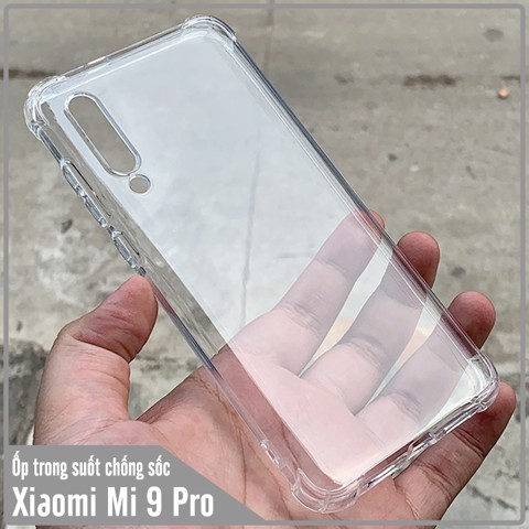 Ốp lưng Xiaomi Mi 9 Pro HENYOU Trong Suốt Chống Sốc