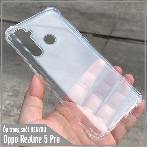Ốp lưng Oppo Realme 5 Pro / Realme Q HENYOU Trong Suốt Chống Sốc