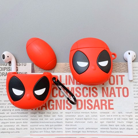 Case silicon cho tai nghe Airpods mẫu Deadpool