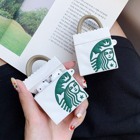Case silicon cho tai nghe Airpods mẫu Starbucks