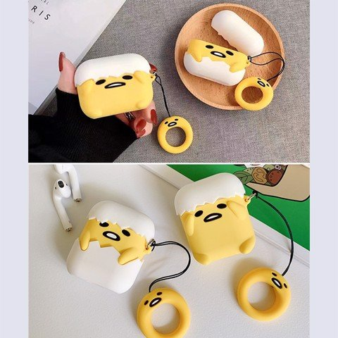 Case silicon cho tai nghe Airpods 1 / 2, Airpods Pro mẫu Chú Vịt Trứng