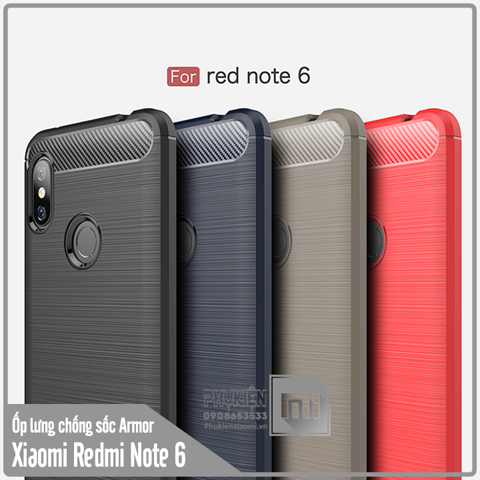 Ốp lưng Xiaomi Redmi Note 6 Pro / Note 6 chống sốc - Rugged Armor