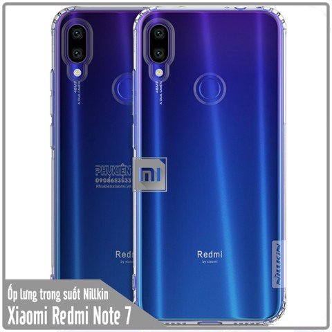 Ốp lưng Xiaomi Redmi Note 7 TPU trong suốt Nillkin NATURE