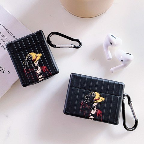 Case silicon cho tai nghe Airpods 1 / 2, Airpods Pro mẫu Luffy