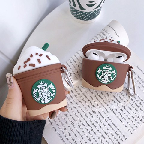 Case silicon cho tai nghe Airpods 1 / 2, Airpods Pro mẫu Starbucks Version 2