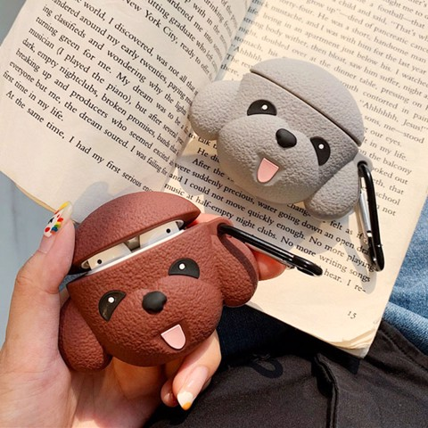 Case silicon cho tai nghe Airpods mẫu Poodle