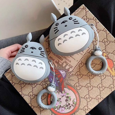 Case silicon cho tai nghe Airpods 1 / 2, Airpods Pro hình TOTORO nhựa dẻo